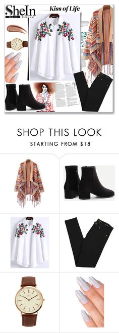"""Colors"" by musicajla ❤ liked on Polyvore featuring WithChic, Yves Saint Laurent and BKE"