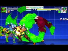 The Hulk And Gilius Thunderhead VS Michelangelo & Garfield The Cat In A MUGEN Match / Battle / Fight This video showcases Gameplay of Garfield The Cat From The Garfield And Friends Series And Michelangelo From The Teenage Mutant Ninja Turtles Series VS Gilius Thunderhead The Dwarf From The Golden Axe Series And The Hulk In A MUGEN Match / Battle / Fight