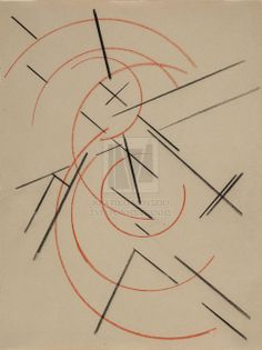 Popova Liubov, Study for Spatial Force Construction