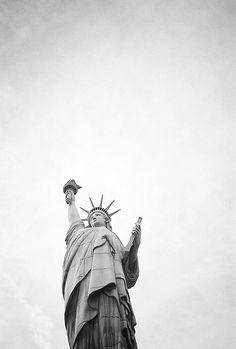 Lady Liberty in monotone