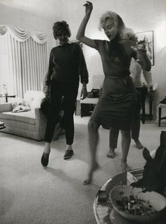 Marilyn showing some friends how to boogie