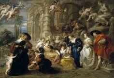 Peter Paul Rubens - The Garden of Love [c.1633] | Arash Noorazar Virtual Art Gallery  #17th #Classic #Painting #Peter #Paul #Rubens