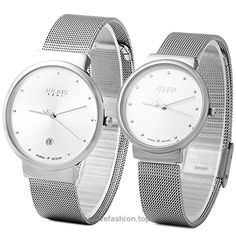 JULIUS JA-426 His and Hers Couple Ultra Thin Diamante Dial Silver Mesh Stainless Steel Fashion Watch BUY NOW     $49.90     The male dial diameter: 3.8 cm / 1.50 inches  The male watchband width: 1.8 cm / 0.71 inches  The male watch weight: 0.052 kg  The male watch size (L x W x H): 23.5 x 3.8 x 0.8 cm / 9.24 x 1.49 x 0.3 inches  Th ..