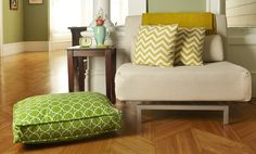 'title track' is the perfect green accent for your pup's favorite room in the house.
