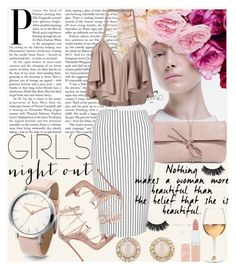 """""""Carrie"""" by meliki ❤ liked on Polyvore featuring M.A.C, Balmain, Topshop, Dsquared2, LULUS, Kate Spade, Marc Blackwell and Rimmel"""