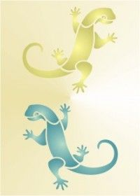 Free Printable Lizard Stencil