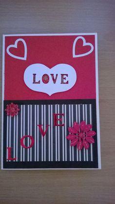 Handmade Valentine Note Card by craftsisme on Etsy  Handmade