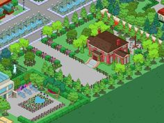 villa Springfield Simpsons, Springfield Tapped Out, Springfield Heights, The Simpsons Game, Clash Of Clans, Villa, Mansions, Games, Minecraft