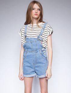 Denim suspender shorts - Shop the latest Fashion Trends Bib Overalls,  Dungarees, Flower Farmer dbfa06271431