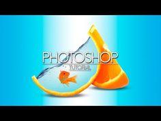 Tutorial Photoshop Cs6: Manipulación de foto   Fruta de Agua   Imagen 3D…