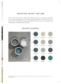 Inspiration from Farrow & Ball: Inchyra Blue No. Farrow Ball, Farrow And Ball Paint, Room Colors, Wall Colors, House Colors, Paint Colours, Colours 2017, Bedroom Colours, Blue Colour Palette