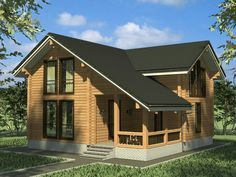 Mountain Dream Homes, Bungalow House Design, Cabin Homes, Home Fashion, Old Houses, Townhouse, Tiny House, Beautiful Homes, House Plans