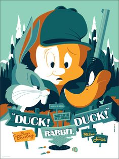 "Looney Tunes Poster by Tom Whalen. 18""x24"" screen print."
