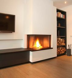 Good Free Pellet Stove gate Tips Pellet ovens are an effortless way to save cash and keep comfy while in all those idle cold months during home. Basement Fireplace, Home Fireplace, Modern Fireplace, Living Room With Fireplace, Fireplace Design, Home Living Room, Living Room Designs, Living Room Decor, Home Deco