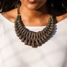 Woven Necklace.