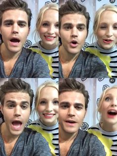 Paul wesley and candice accola first snap comic con 2015