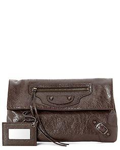 "Balenciaga ""Classic Envelope"" Leather Clutch"