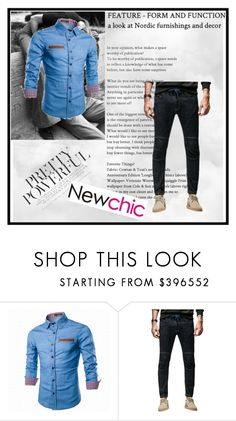 """""""Newchic - 15"""" by k-lole ❤ liked on Polyvore featuring men's fashion and menswear"""