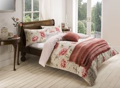 Cosy floral country look farmhouse bedding made by Julian Charles.  See more my top curated autumn home accessories (most are super affordable)