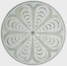 floor medalion in to white marbles