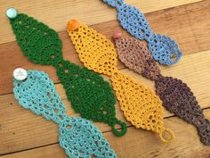 Crochet bracelets, light and colorful. Available in many colors and sizes in my Etsy shop. Crochet Bracelet, My Etsy Shop, Colorful, Bracelets, Shopping, Atelier, Bracelet, Bangles, Bangle