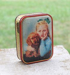 vintage English tin