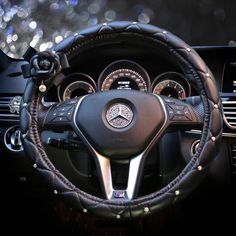Luxury Vegan Leather Steering wheel cover with Camellia FEATURES Soft PU leather. Matches perfectly with other girly car accessories with camellia. Shown on Mercedes Benz, Audi, BMW. Fit perfectly with A, AX, AXX steering wheels. If you are not sure what size your steering wheel is, you can check out this sizechart.