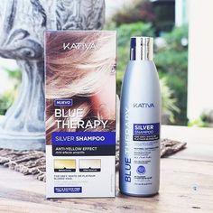 Kativa Blue Therapy Silver Shampoo.Η εξέλιξη στα κομμωτήρια,Το καλύτερο της αγοράς! Τα μαλλιά σας θα είναι μεταξένια,υγιέστατα βάζοντας τέλος στις ανεπιθύμητες αποχρώσεις αλλά και τέλος στα άγρια και τζιβασμένα μαλλιά απο τα άλλα Silver που κυκλοφορούν! To Kativa Blue Therapy Silver Shampoo είναι ένα σαμπουάν που χρησιμοποιεί μια φόρμουλα από μπλε και μωβ διορθωτικές χρωστικές της επόμενης γενιάς .