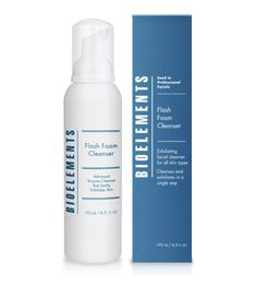 Flash Foam Cleanser - 34.    Instantly dissolves dirt, dead cells and makeup   Provides mild daily exfoliation   Leaves skin smooth, soft and refreshed   500 puffs of foam in every bottle - used twice a day will last just under 4 months!