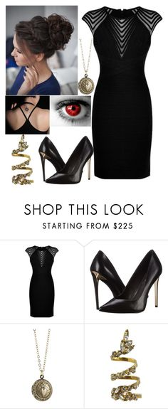 """""""Evangeline Waters"""" by clarecollege ❤ liked on Polyvore featuring Hervé Léger, Rachel Zoe, Alexis Bittar and Erickson Beamon"""