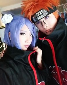 Konan and Pain Akatsuki Cosplay from Naruto.