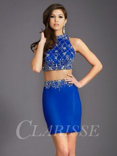 Totally trending for #Homecoming -- 2 piece sets! This gorgeous beaded, royal blue skirt and crop top would make the perfect #HomecomingDress for dancing the night away! Rent this look at LendingLuxury.com
