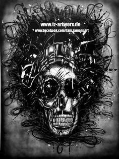 """Hendrix"" Format: 90cm x 120cm auf Leinwand Material: Airbrush, Marker Ort/Jahr: Bochum/2014"