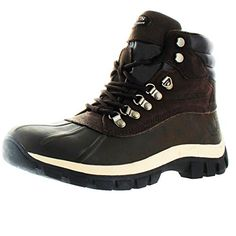 KingShow Men's Waterproof Leather Duck Boots Snow Winter *** Details can be found by clicking on the image.