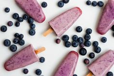 blueberry popsicles - superfoods 2016