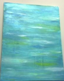 DIY Canvas Acrylic Paint Art Created by Adding Water.  Click to see the description.