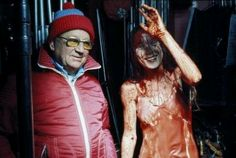 On the set of Carrie 1976