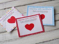 Scratch Off Valentine Gift Certificates by @Amanda Formaro Crafts by Amanda