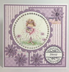 Card made using Angelica and friends card making kit. 2013