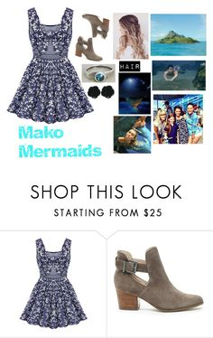 """Mako Mermaids Outfit"" by jonas-bros02 on Polyvore featuring Sole Society, Dollydagger, H2O+, cute, casual, mermaid, skaterdress and makomermaids"