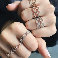 Currently obsessed with the EF Collection chain link rings. Available in full or partial diamond links.