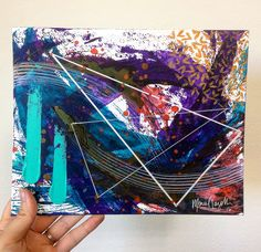 Mariel Lazo-Duran   Abstract with acrylic ink, acrylic paint, chalk pastel, and uniball pen