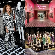 LA celebrate the 40th anniversary of Diane Von Furstenberg's iconic wrap dress at the unveiling of her Journey Of A Dress Exhibition. #wrapdress  Can't Miss: Diane Von Furstenberg's Journey Of A Dress Exhibition   The Zoe Report