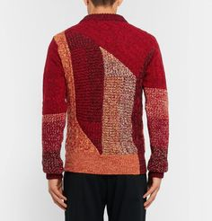 Patchwork Ribbed And Cable-knit Cashmere And Wool-blend Sweater Burberry