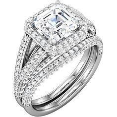 $3,499  -  2.45 CARATS ASSCHER * EGL CERTIFIED * DIAMOND HALO SPLIT SHANK BRIDAL SET ON 14K SOLID WHITE GOLD F 26 D http://www.amazon.com/dp/B00OU5HA9K/ref=cm_sw_r_pi_dp_-WNyub17DYWJ8