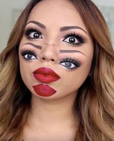 Spook your friends this Halloween with double vision makeup