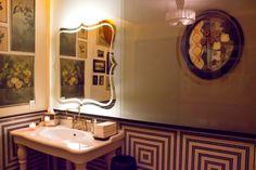 Gitane bathroom in Claude Lane in SF-love this bathroom!