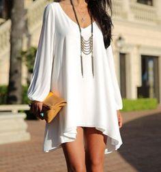 Fashion Loose V-Neck Dress