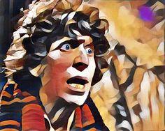 "1) Bek Hobbes, outlier @Greebobek - ""The Fourth Doctor in two portraits - Art…"