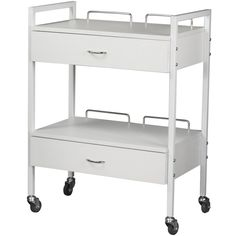 Salon Furniture : Beauty Salon Spa Equipments : Barber Equipment : Salon & Spa Boutique : Shampoo Units : Dryer Chairs : Facial Bed : Manicure Table : Skin Care Machines - Equipment - Trolley & Service Trays - White Trolley with Drawers TR-62 - Salon Equipment and Furniture